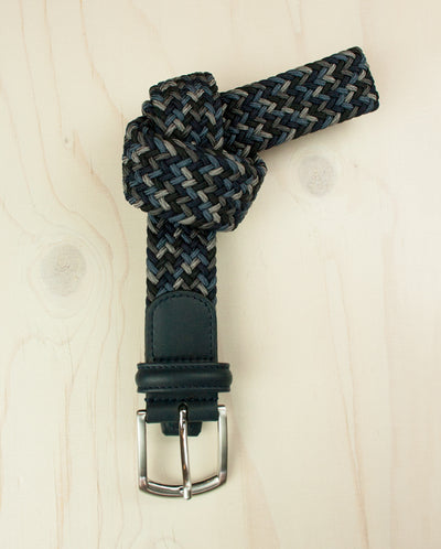 Weave Belt Tonal Blue/Grey