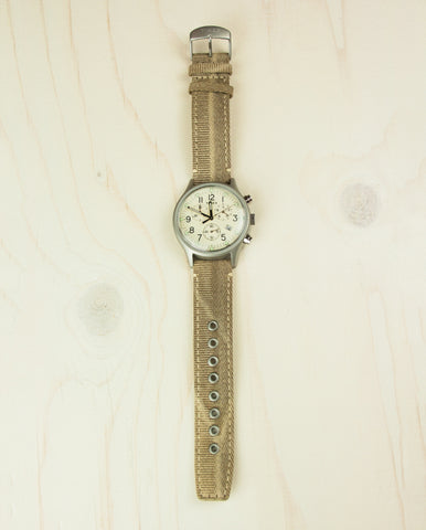 MK1 Steel Chronograph Watch Tan/Natural