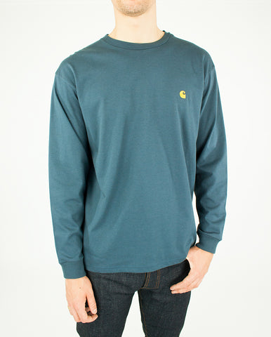 Long Sleeve Chase Tee Stone Blue