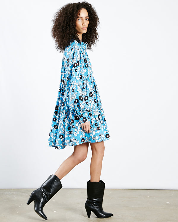 Jasmine Flower Dress Cosmos Blue