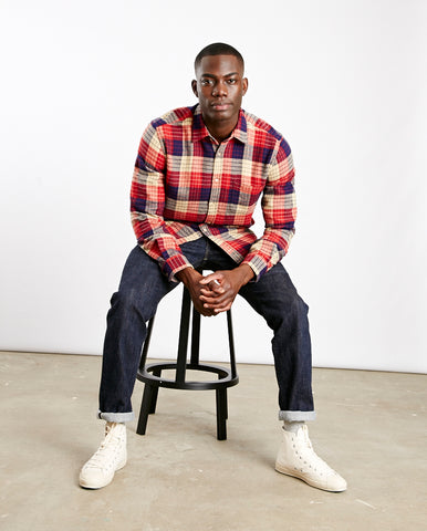 Village Check Shirt Red/White/Ecru