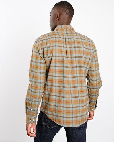 Cabeco Check Shirt Pale Blue/Olive