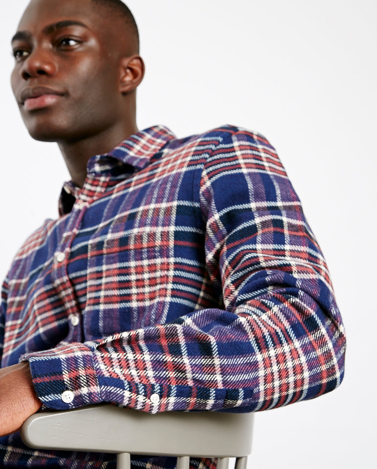 Modern Check Shirt Blue Check