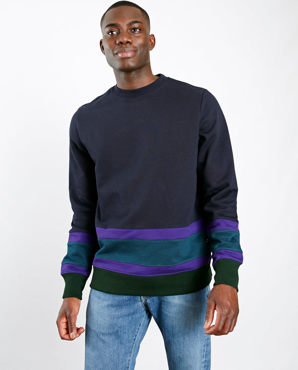 Colour Block Sweatshirt Navy Multi