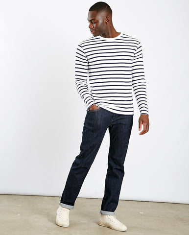 Mariniere Striped Heritage tee Navy/White
