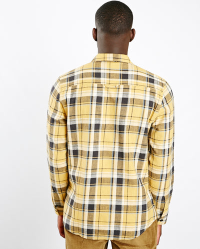 Check Shirt Jacket Gold check