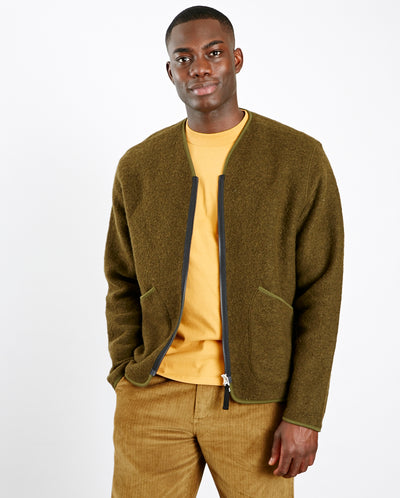 Wool Fleece Zip Jacket OLIVE