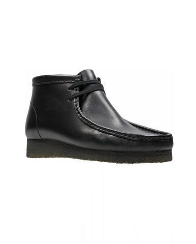 Men's Wallabee Boot Black Leather