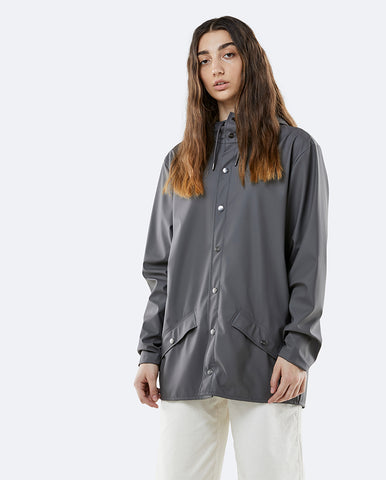 Unisex Transparent Jacket Foggy Black