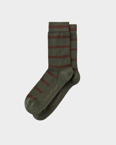Olsson Tiger Stripes Socks OLIVE