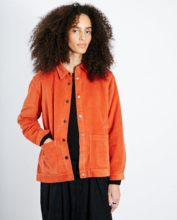Cord Painters Jacket Brick Red