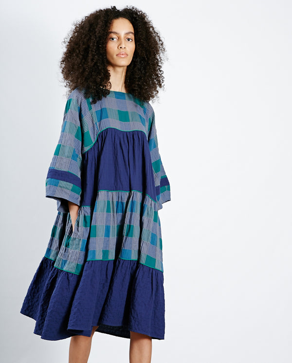 Petite Paloma Dress Multi Blues