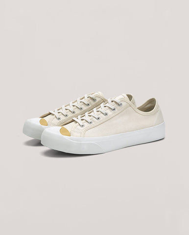 Wing Tip Plimsol Ecru / Yellow