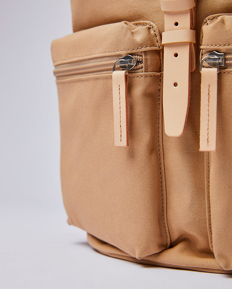 Roald Rucksack Beige / Natural Leather