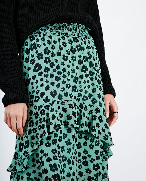 Sally Skirt Green/Black