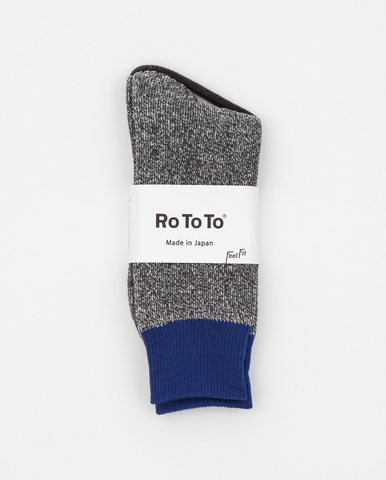 Double Face Socks Blue/Gray