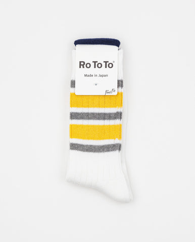 5 Stripes Socks Grey/Yellow