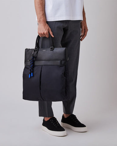 Andres Mixed Tote BLACK