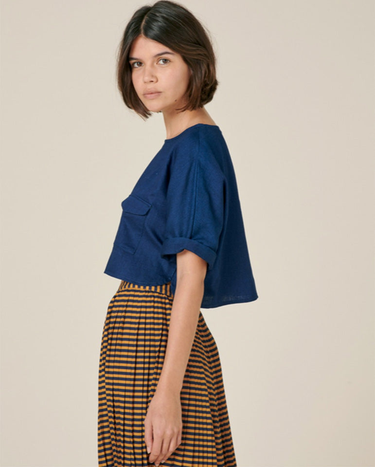 Chiara Skirt Navy/Gold