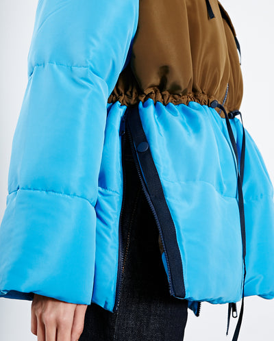 Tamara Down Coat Aqua/Brown