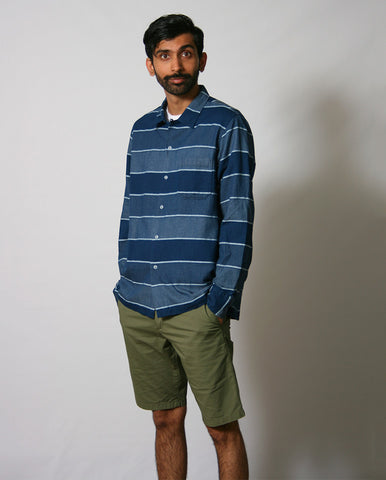 Garage Blanket Shirt INDIGO