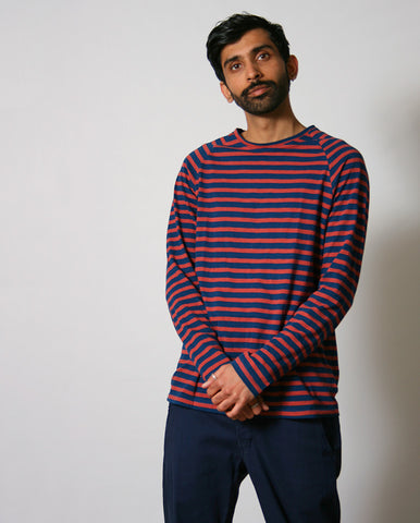 Otto Breton Stripe Tee Blue/Red