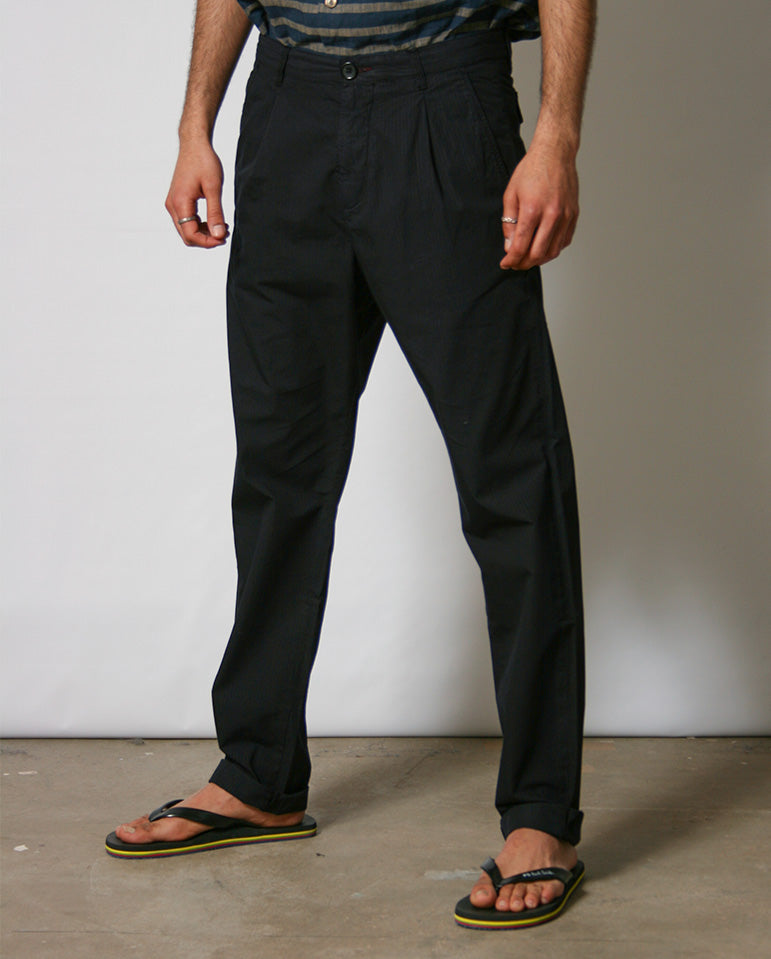 Pleat front trouser NAVY