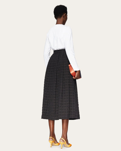 Thea Gingham Skirt BLACK