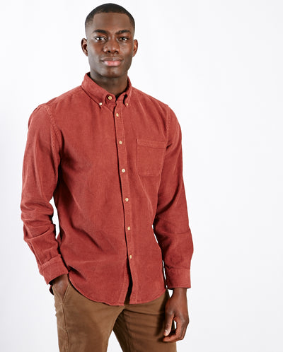 Lobo Cord Shirt Bordeaux