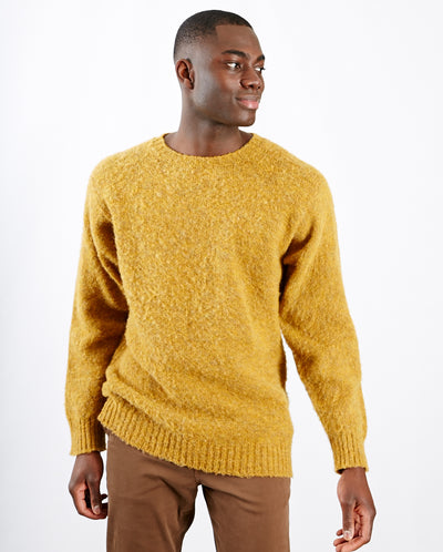 Heavy Brushed Pullover Yellow Ochre