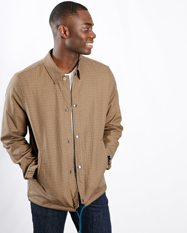 Coach Jacket Brown Check