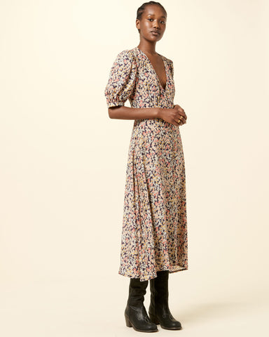 Kensington Silk Dress MULTI