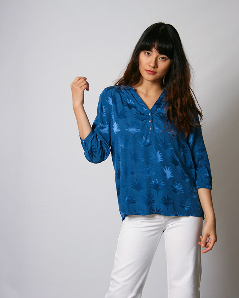 Trudy Top Fan Blue