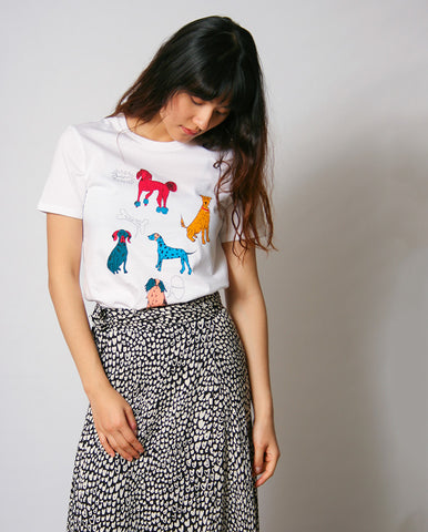 Dog Days Tee White