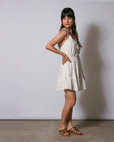 Cundiyo Broderie Dress Off White