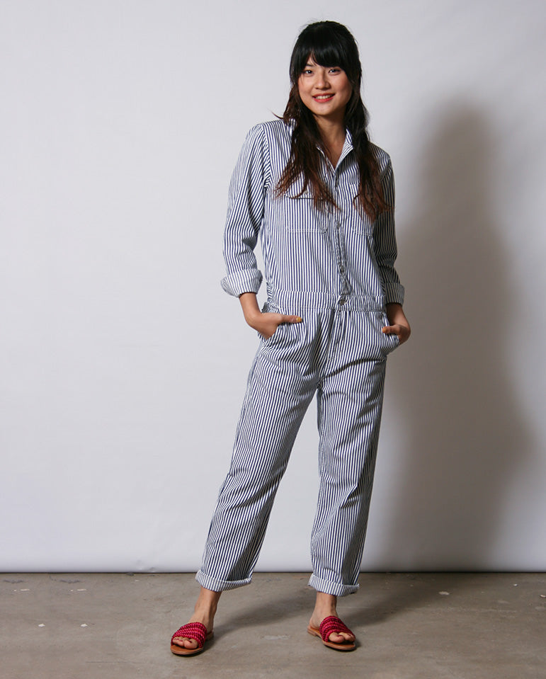 Tara Coverall Blue/White
