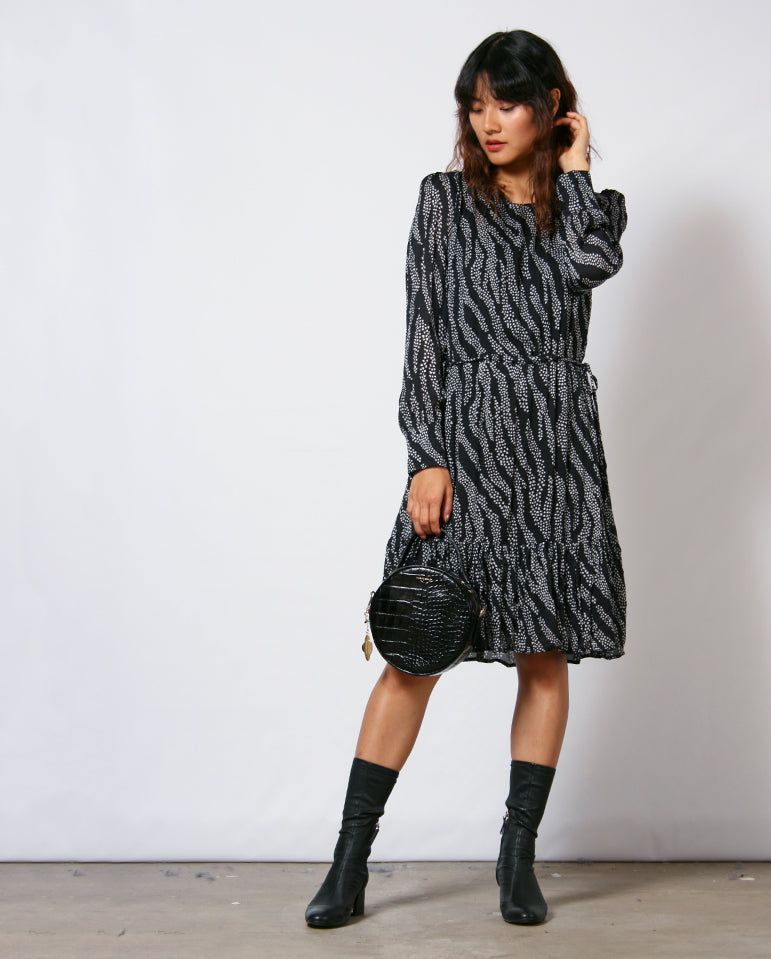 Bonnie Dress Black Zebra