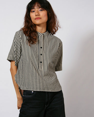 Manon Stripe Shirt Black Stripe