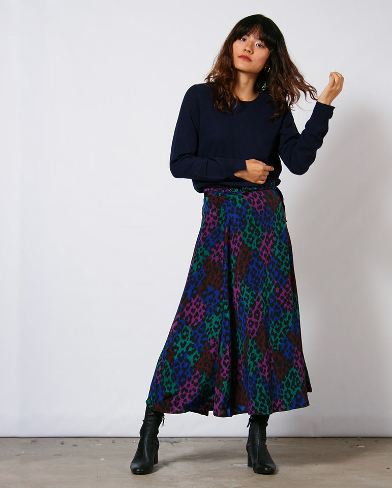 Wonder Leopard Skirt BLACK
