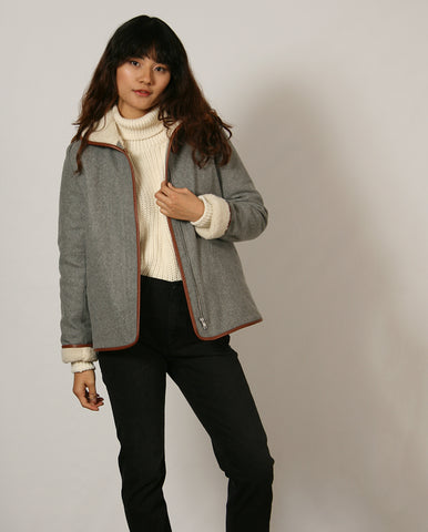 Paolo Coat Cloud Grey