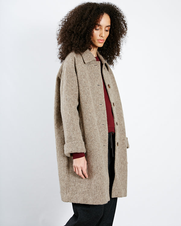 Zalirow Button Through Coat Melange