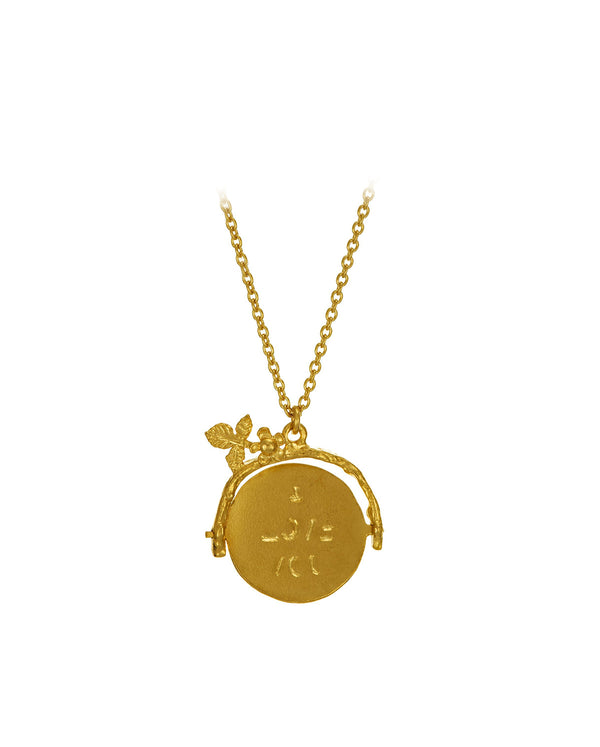 Spinning 'I Love You' Necklace GOLD