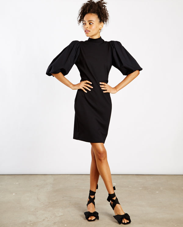 Bima Turtleneck Dress BLACK