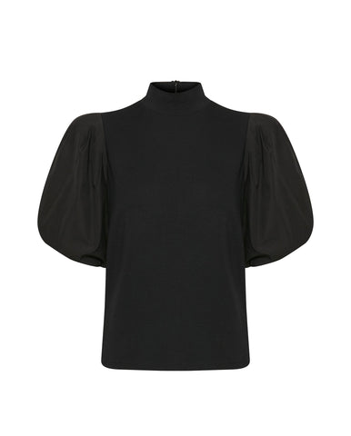 Bima Turtleneck Top BLACK