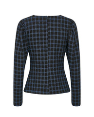 Lydia Check Blouse Blue Check