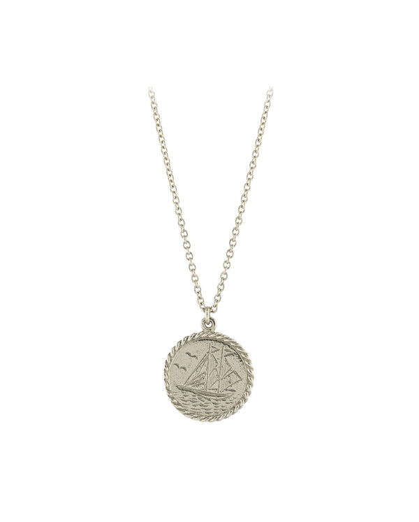 Nautical Antique Coin Necklace SILVER