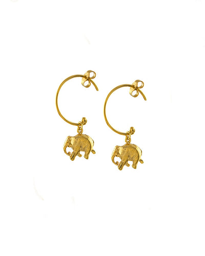 Indian Elephant Hoop Earings