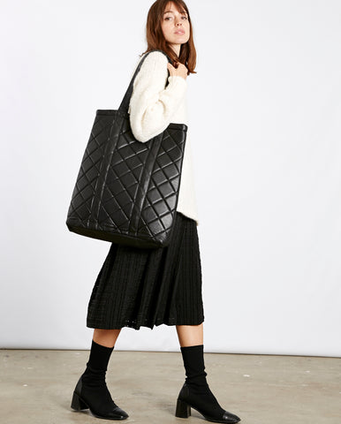 Karon Leather quilted bag
