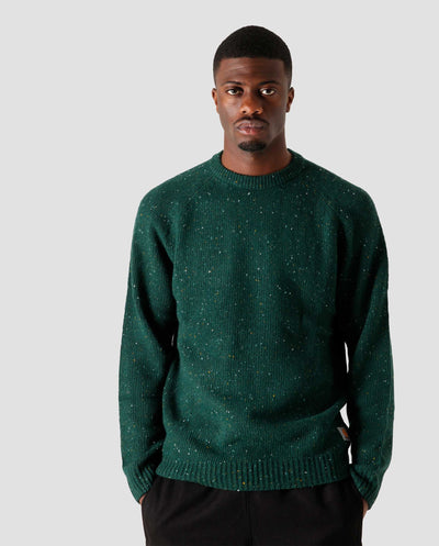 Anglistic Sweater Bottle Green