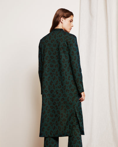 Phene Leopard Cardi Bottle Green/Black